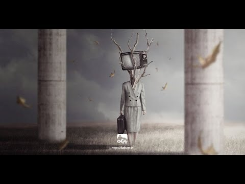 How to Create a Surreal TV Head Photo Manipulation With Adobe Photoshop BabArt iR