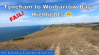 Tyneham to Worbarrow Bay walk FAIL  - 8 min highlights with commentary #leavenotrace