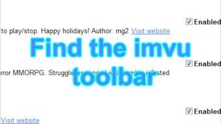 How to remove the imvu toolbar