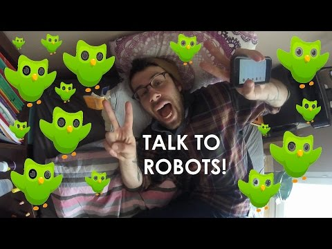 Talk To Robots, Learn A Language (Vlog In English, English & French Subtitles)