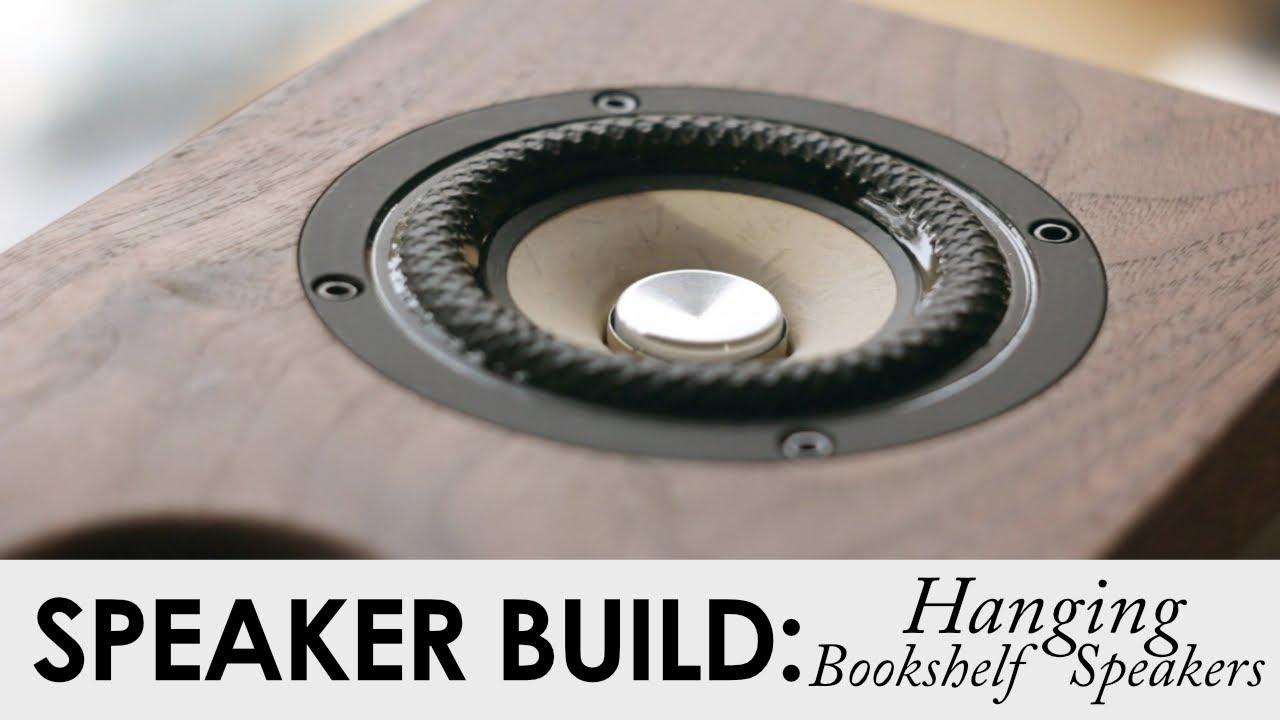 DIY Hanging Bookshelf Speakers || DIY Floating Bookshelf Build