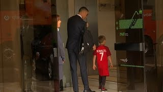 Ronaldo makes young fan's day as Portugal depart for Russia