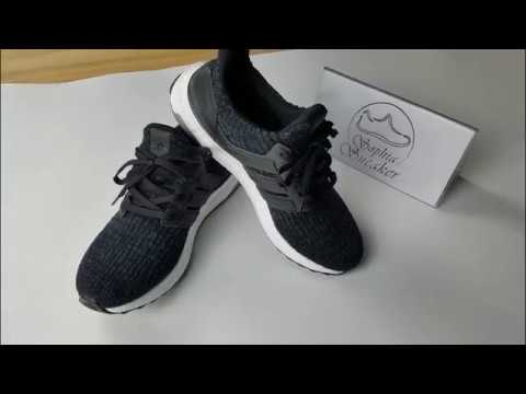 9e6796ce05be1  15 Off Only For UA Ultra Boost 3.0 Black White Unboxing Review ...