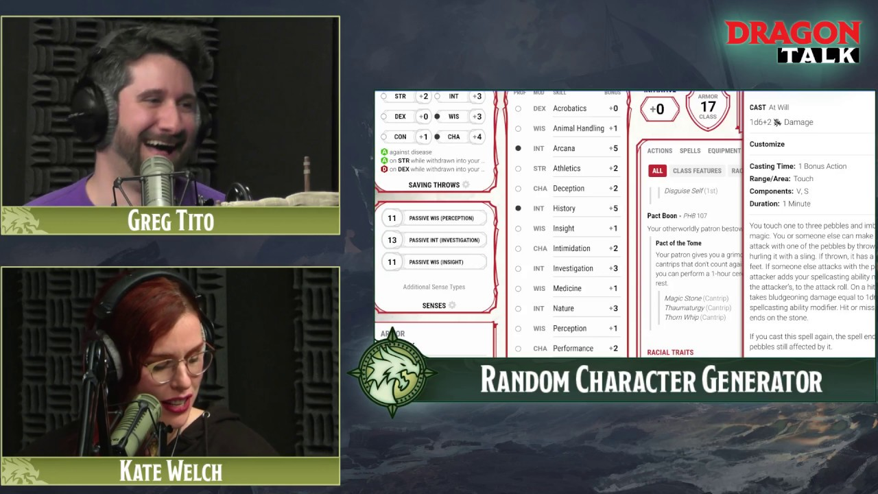 random video game characters generator