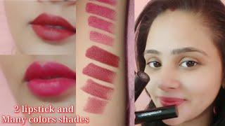 2 Beautiful lipstick color shades - Coloressence lipstick review Ragini pandey