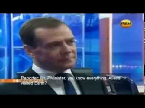 Russian Prime Minister Dmitry Medvedev Answers Question About UFOs and Aliens