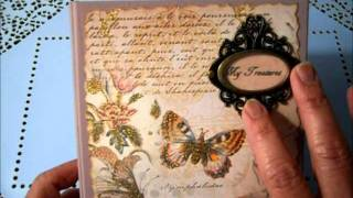 """my Treasures"" Altered Wood Keepsake Box"