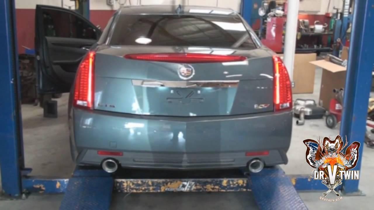 Xts Vs Cts >> 2010 Cadillac CTS-V Borla Sport Exhaust Vs. Stock - YouTube