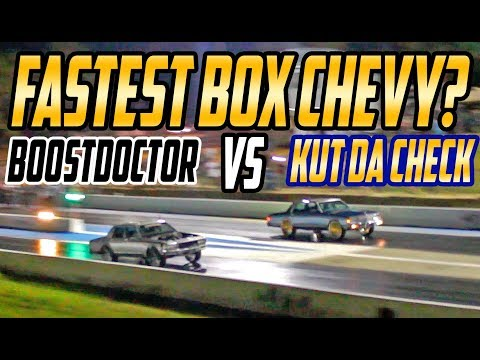 BOOST DOCTOR VS KUT DA CHECK BOX CHEVY TITLE RACE ! Twin Turbo Box Vs Procharged Box