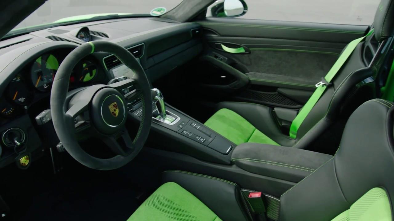 Porsche 911 Gt3 Rs In Lizard Green Interior Design Youtube