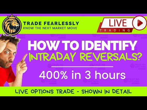 TRADING OPTIONS LIVE, 400% IN 3 HOURS, HOW TO SPOT INTRADAY REVERSALS? TRADING WEEKLY OPTIONS ON FRI
