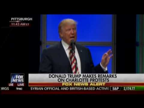 Trump Addresses Charlotte Protests