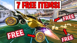 MAKE SURE YOU GET THESE FREE ROCKET LEAGUE ITEMS!
