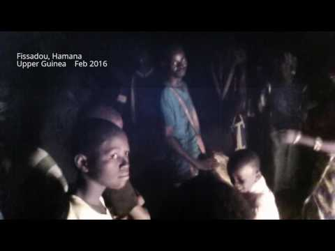 Traditional Malinkē Village drumming, Hamana, Guinea