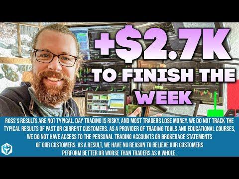 +2.7k Trading Friday Momentum - Recap by Ross Cameron