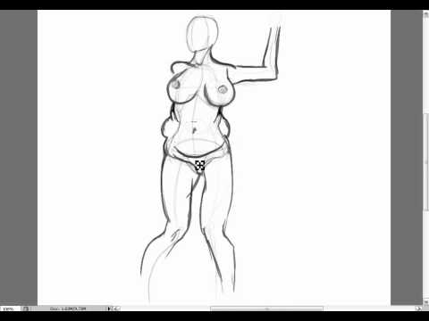 Naked fat girl drawings