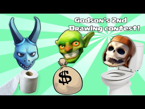 Clash of clans - Godson's 2nd Drawing Contest (Tier 1 or Dark troops ONLY)