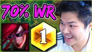 DUO WITH THE RANK 1 KATARINA (KatEvolved) vs RANK 1 CHALLENGER & TOXIC JUNGLER