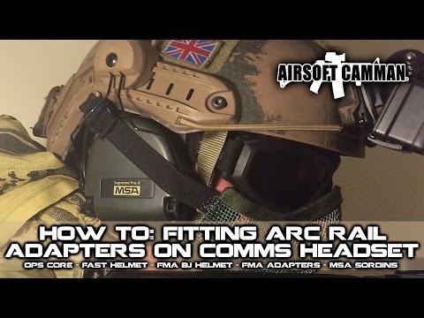 Fitting FMA ARC Rail Adapters to MSA Sordin Supreme Pro X Headset Base Jump Helmet ZTactical