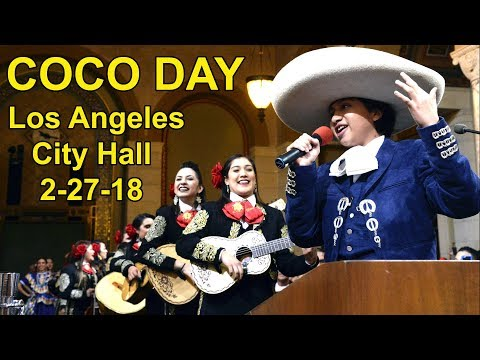 """Coco"" Day at Los Angeles City Hall FULL Ceremony, Music & Proclamation w/Director Lee Unkrich, More"