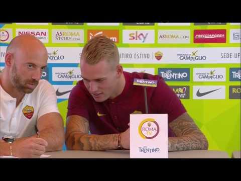 Karsdorp e Monchi in conferenza stampa (VIDEO INTEGRALE HD) 09.07.17