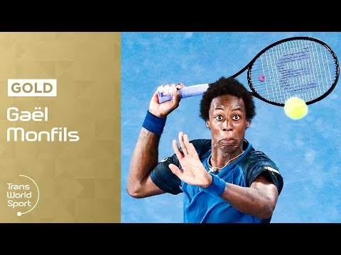 Gael Monfils   French Tennis star as a youngster on Trans World Sport