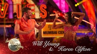 Will Young & Karen Clifton Salsa to 'Jai Ho (You Are My Destiny)' - Strictly 2016: Week 3