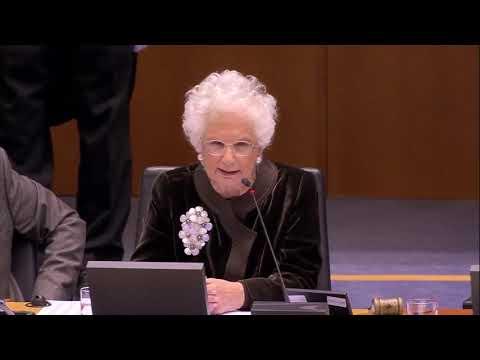 Il Discorso Della Senatrice Italiana Liliana Segre Al Parlamento Europeo (29.01.20)