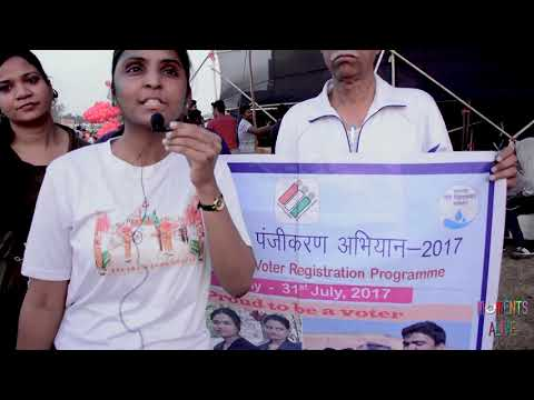 Nidhi Prajapati (Social Worker & Activist) talking about Voter card campaign
