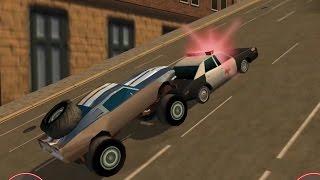 Using a Cop Car as a RAM - Stunt Car Challenge 3