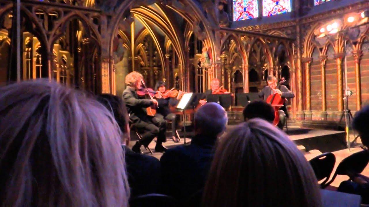 A Vivaldi concert at La Sainte Chapelle in Paris, France
