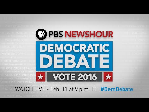 LIVE STREAM: PBS NewsHour Democratic Debate