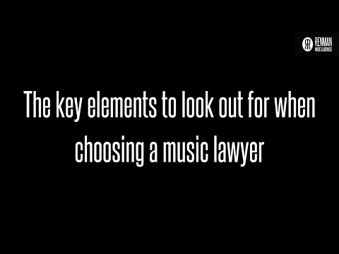 The key elements to look out for when choosing an entertainment lawyer. ASK Renman