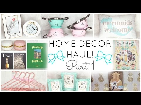 HOME DECOR HAUL! ♡ PART 1 ♡ HomeGoods, TJ Maxx, Target, Hobby Lobby, JoAnns Fabric & Kate Spade
