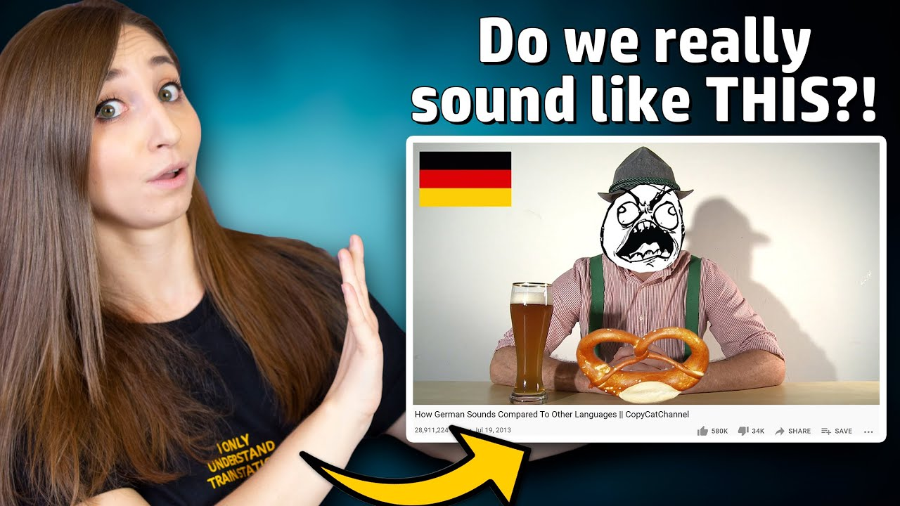"""German reacts to """"How German Sounds Compared To Other Languages""""   German Girl in America"""