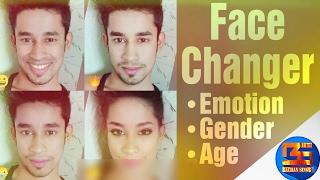 الوجه المتغير ، الجنس ، العمر ، العاطفة ، وجه التطبيق• صور• BS