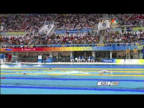 5th Gold [2008 Beijing Olympics] Swimming Men's 4 x 200m Freestyle Relay.mp4