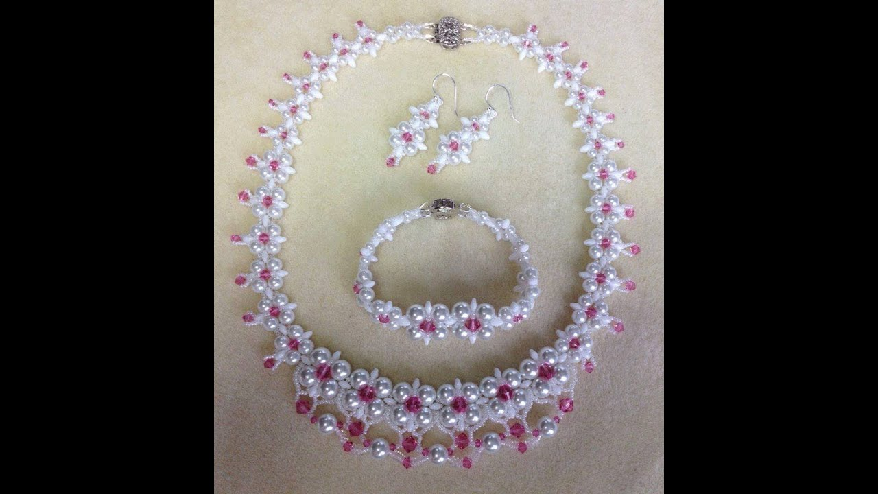 Tutorial) Dream Wedding Necklace Set PART 1 (Video 58) - YouTube