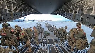 U.S. Army Paratroopers Conduct Airborne Jump In Italy