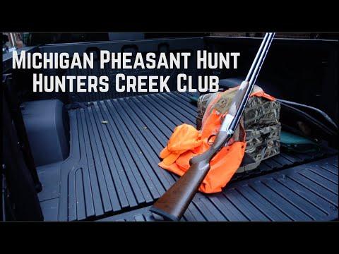 Pheasant Hunt At Hunters Creek Club In Metamora, MI