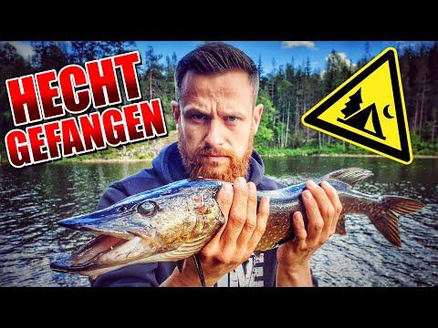 2 Tage BIWAK in Schweden - Hecht gefangen Bushcraft angeln Overnighter Übernachtung | Fritz Meinecke