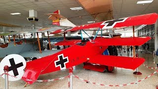 This replica of the WWI ace's plane was filmed in the Museo del Air...