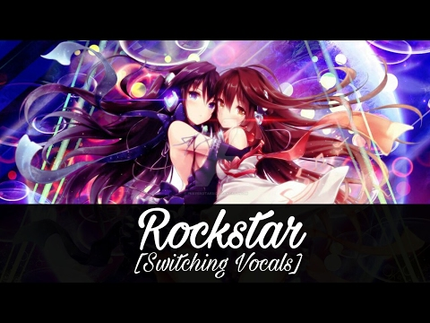 Nightcore - Rockstar (Switching Vocals)