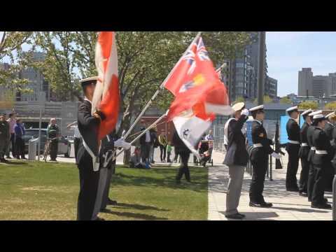 Cérémonie bataille de l'Atlantique à Montréal