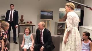 Владимир Путин посетил Институт Пушкина в Париже