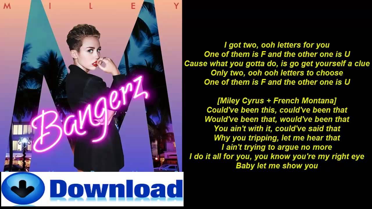fu miley cyrus ft french montana lyrics youtube