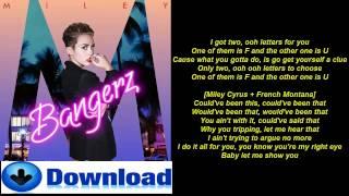 Repeat youtube video FU - Miley Cyrus Ft French Montana - Lyrics