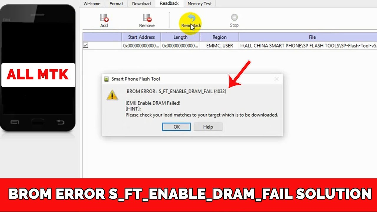How to Fix brom error s_ft_enable_dram_fail (4032) solution