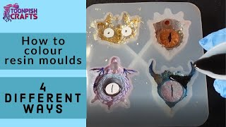 4 Different ways to colour resin moulds - 3 ways with Mica powder