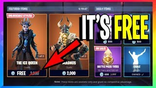 *LEGIT* How To Get The Ice Queen Skin 100% FREE! Fortnite Battle Royale ps4, xbox, pc (console)